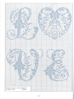 Cross Stitch for the word love. Cross Stitch Alphabet Patterns, Embroidery Alphabet, Cross Stitch Letters, Cross Stitch Heart, Modern Cross Stitch, Embroidery Patterns, Stitch Patterns, Cross Stitching, Cross Stitch Embroidery