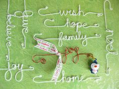 Ornament  Wire Word Hooks