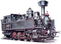 parní lokomotivy - Hledat Googlem Train Drawing, Steam Locomotive, Military Vehicles, Sketch Books, Coloring, Drawings, Trains, The World, Montages