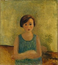 André Derain, Little Girl in Blue, c. 1928