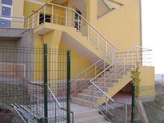 Krom merdiven korkuluğu