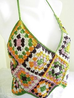 granny square halter top!