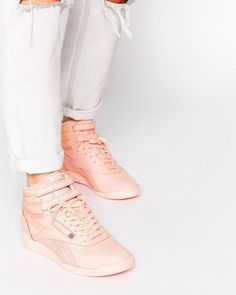 a80d0f83670 Shop Reebok Hi Spirit Coral High Top Trainers at ASOS.
