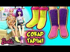 Barbie Çorap Yapımı - Kendin Yap Kolay Barbie Bebek Eşyaları - Oyuncak Yap - YouTube