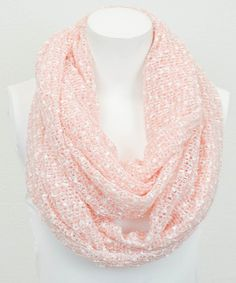 Leto Collection Peach Boucle Infinity Scarf by Leto Collection #zulily #zulilyfinds