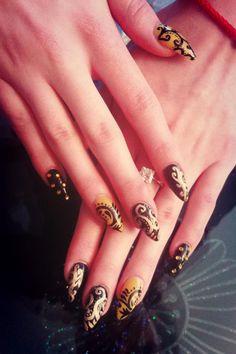 Stiletto nails design