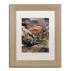 "Trademark Art 'Lack of Repetition' Framed Painting Print Size: 14"" H x 11"" W x 0.5"" D, Mat Color: White"