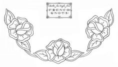 Rose embroidery corner pattern ... could be used as cutwork pattern + can be made into circular design