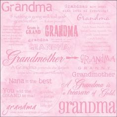 """Dinglefoot's Scrapbooking - Grandma 12"""" x 12"""" Scrapbook Paper, $0.75 (http://www.dinglefoot.com/grandma-12-x-12-scrapbook-paper/)"""