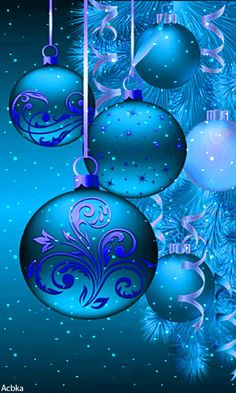 Merry Christmas Gif, Merry Christmas Pictures, Merry Christmas Wallpaper, Christmas Cover, Holiday Wallpaper, Christmas Art, Christmas Bulbs, Blue Christmas Tree Decorations, Christmas Scenery