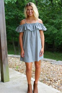 Ruffle Dress - Black >> www.anchorabella.com New Arrivals Daily! Fast, Free Shipping!