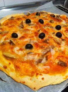 Masa de pizza sin levadura para #Mycook http://www.mycook.es/receta/masa-de-pizza-sin-levadura/