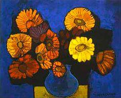 Flores secas, 1993- Técnica: Óleo sobre tela- Dimensiones: 50 x 60 cm- Colección: Desconocida- Ubicación: Quito-Ecuador