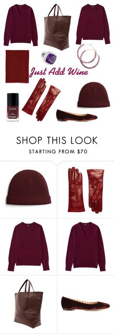 A splash of Bordeaux for The Holidays by tishjett on Polyvore featuring Uniqlo, Chloé, Alice.D and Brooks Brothers