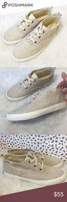 New Keds Wool Oatmeal Triumph Sneakers So cute and perfect for fall! Brand new and never worn! Size 9. Oatmeal wool. Glitter back tab. No trades!! Keds Shoes Sneakers