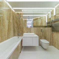 minimalist bathroom, natural stone walls, matte white MDF cabinet orders/price offers at: office Minimalist Apartment, Minimalist Bathroom, Natural Stone Wall, Natural Stones, Mdf Cabinets, Stone Walls, Marsala, Bathtub, Design