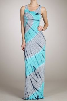 Choosing Happiness Maxi Dress-Turquoise Grey
