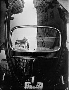 Volkswagen Reflection, New York City, Photo by Frank Paulin, 1962