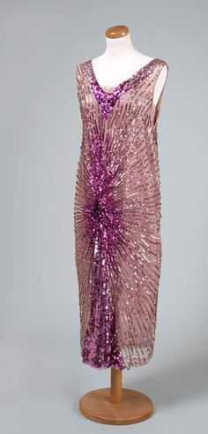 Evening gown, Jean Patou, ca. 1925. Silk voile.