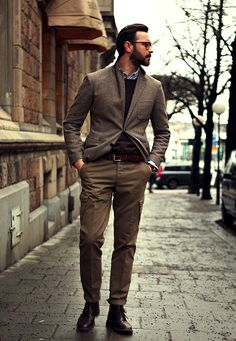 Rustic grey wool jacket is awesome.