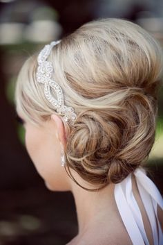 A headband style. Maybe something like this with less sparkle?