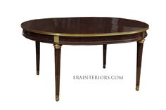 louis xvi neoclassical oval dining table Custom Dining Tables, Neoclassical, Louis Xvi, Living Room, Furniture, Home Decor, Neoclassical Architecture, Decoration Home, Room Decor