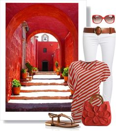 """Red"" by wishlist123 ❤ liked on Polyvore"
