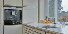Designer kitchen in beautiful light wood | Case
