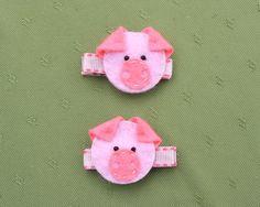 Pig hair clips