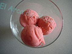 Helado de Fresas y Yogurt (Thermomix)