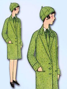1920s Vintage Butterick Sewing Pattern 1907 Uncut Girls Flapper Coat Size 8 25B  | eBay