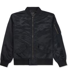 Black Milit Bomber Jacket