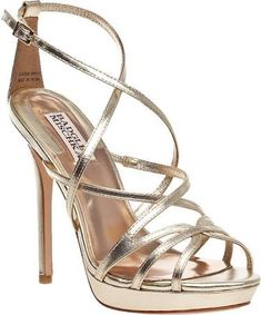 badgley mischka gold heel
