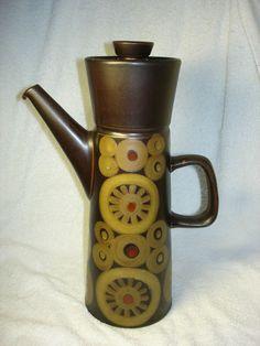 Denby - Arabesque - Tall  Coffee Pot - 2 3/4 Pints