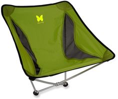 Alite Monarch Butterfly Chair - Best little chair I have ever owned. Folds down to the size of a large burrito. At only 18 ounces, I don't think I will ever camp without it!! It is a perfect height to sit in and use a backpacking stove that is on the ground. You can also kick your feet out in front of you and fall asleep without worry of tipping over. http://www.youtube.com/watch?v=HW_hnJbjf-g