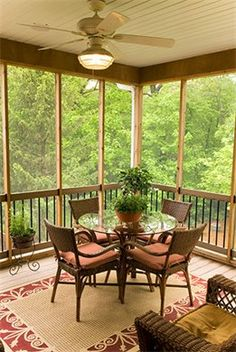 Darling screened porch.