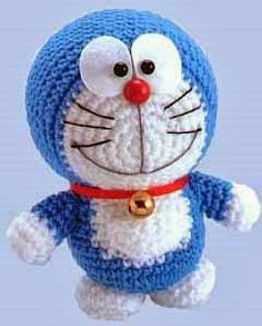 Amigurumi Doraemon (Blaue Katze) Made - Doraemon Toy - amigurimi Diy Crochet, Crochet Crafts, Crochet Toys, Crochet Projects, Doraemon, Crochet Patterns Amigurumi, Amigurumi Doll, Knitting Accessories, Stuffed Toys Patterns