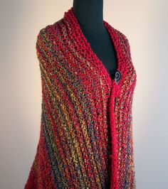 Hand Knit Prayer Comfort Shawl Throw Lap Blanket Wrap Mothers Day Gift Free Shipping by peacefulpath, $100.00