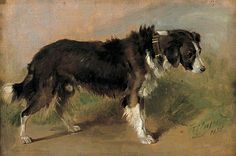 'A Border Collie' by Thomas Sidney Cooper, English painter, 1803-1902