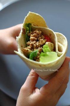 Tasting Good Naturally : Tortillas aux Noix et Crudités (wrap) #vegan