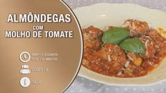 Almôndegas com Molho de Tomate Curry, Yummy Food, Beef, Make It Yourself, Cooking, Robots, Ethnic Recipes, Facebook, Youtube
