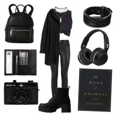 """Graveyard Whistling ☠"" by violenceinsilence ❤ liked on Polyvore featuring Yves Saint Laurent, H&M, Lipstik, Holga, Sephora Collection, Wet Seal and Street Level"