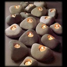 Could make your own candles in the rocks