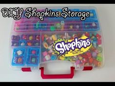 DIY Shopkins Storage container (also great for lalaloopsy tinies) - YouTube