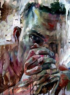 Jakub Kujawa  I like this piece because I think although there is a variety of colours, they all seem to work well together to create the portrait.  I could use this in a final piece to make an eye catching piece.