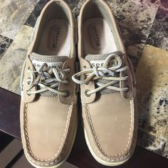 Sperry Top-Sider Ivyfish 3 Eye Casual Boat Shoe Shoes are basically brand new! Worn once outside for about 2 hours. Too small for me! Sperry Top-Sider Shoes Flats & Loafers