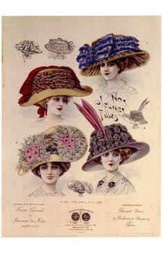 "A Belle Epoque da novela ""Lado a Lado"" - Design Innova 1900s Fashion, Edwardian Fashion, Vintage Fashion, Fashion Fashion, French Fashion, Gothic Fashion, Fashion Women, Fashion Dresses, Victorian Hats"