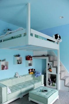 Teen Girl Bedrooms dreamy image - A powerful and awesome pool of teen room suggestions. Sectioned under diy teen girl room desks , inspired on this day 20190515 Sweet Home, Teenage Girl Bedrooms, Kid Bedrooms, Tween Girls, Teen Loft Beds, Teenage Room, Cool Girl Bedrooms, Kids Girls, Cool Loft Beds