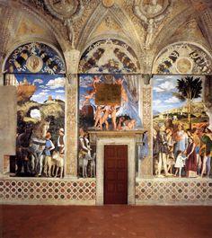 Andrea Mantegna - Palacio Ducal de Mantua: La Cámara de los Esposos. (Quattrocento)
