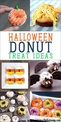 Halloween Donut Treat Ideas - such fun ideas! My kids would love these! Halloween Donuts, Easy Halloween Crafts, Cute Halloween, Halloween Treats, Halloween Carnival, Halloween Snacks, Halloween Cakes, Halloween 2019, Gourmet Recipes